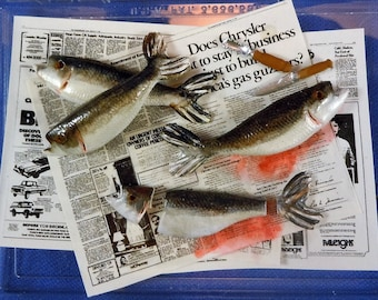 Dollhouse Miniature accessory in twelfth scale or 1:12 scale. Fisherman's fish cleaning set.  Item #D476.