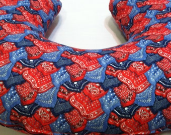 Bandana Boppy Cover, Cowboy, Cowgirl, Baby, Nursing Pillow Cover, Breastfeeding Pillow Cover, New Mom, Ranch Mom