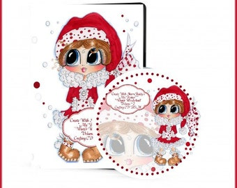 Winter Wonderland 2 CD ROM Digital Digi Stamps Color images Card toppers Papers 100s of Images Big Eyed Art My Bestie  By Sherri Baldy