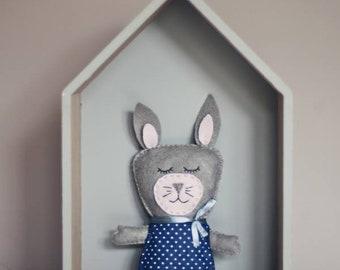 Rabbit toy, Rabbit rag doll, Plush rabbit toy, handmade rabbit toy, plush toy,  Stuffed toy.