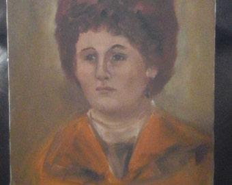 Signed oil portrait 1950 circa