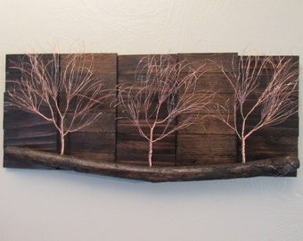 Amazing Copper Art, Copper Wall Art, Tree Art, Tree Wall Art, Rustic Wall Hanging,  Nature Art, Nature Wall Art, Rustic Wood Art, Rustic Home Decor