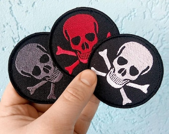 """Embroidered PATCH """"Jolly Roger Pirate Skull"""""""