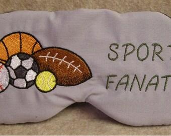 Embroidered Eye Mask for Sleeping, Sleep Blindfold, Slumber Mask, Eye Shade, Basketball Design, Travel Mask, Football Mask, Sports Eye Mask