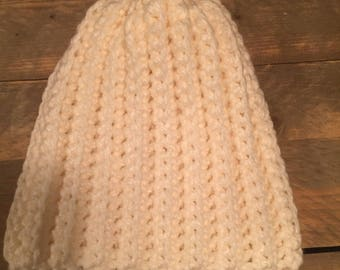 Hat, crochet, thick wool