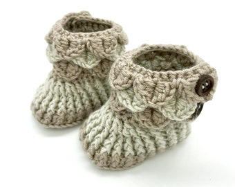 Baby Booties - Crochet Baby Booties - Baby Shoes - Baby Boots - Baby Gift - Baby Shower Gift - New Baby Gift -Baby Girl - Baby Boy