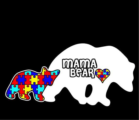 Autism Decal Mama Bear Car Window Sticker