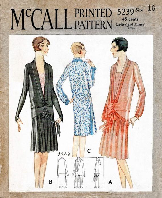 1920er Jahre 20er Jahre Tropfen Taille Kleid Vintage Nähen