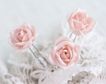 Pink hair flowers Hair accessories roses Wedding hair pins Hair clips wedding Hair flower rose Rose hair pins Flower hair pin Rose 71