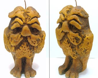 Vintage owl candle-gothic large creepy bird-haunted house