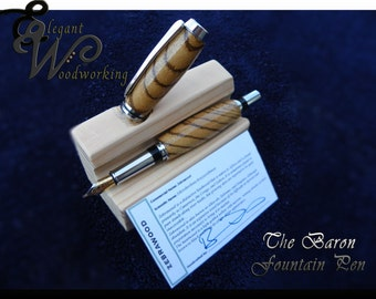 Baron Fountain Pen in Many Different Wood Types