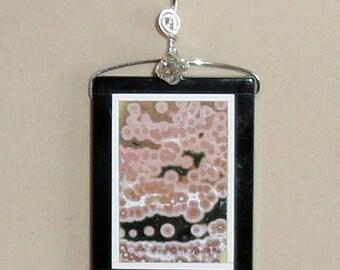 Ocean Jasper Inarsia Pendant Wire Wrapped Necklace