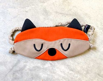 Raccoon Sleep Mask Cute Animal Sleeping Eyemask Kitsch Sleep Eye Mask Orange Mask Travel Flight Eye Cover Eye Shield Blindfold Cosplay Mask