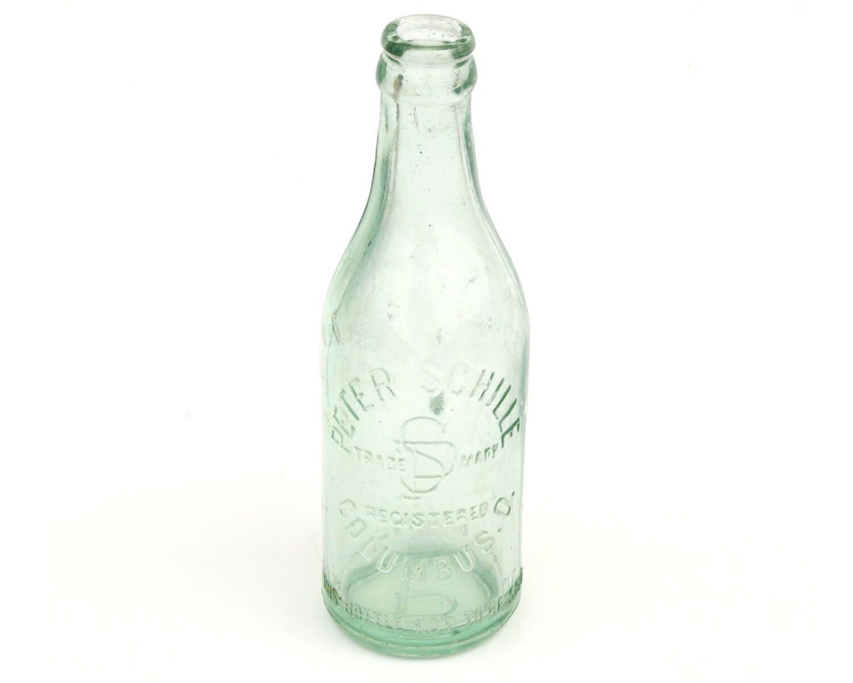 Peter Schille Columbus OH Glass Soda Bottle Light