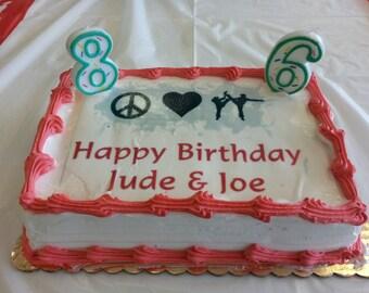 Custom Cake Design File for Edible art on Cake or Cupcakes