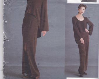 Vogue 1467 Designer Lauren Sara -Womens Loose FittingJacket and Top, Evening Length Tapered Skirt and  Pants Size 6,8,10 UNCUT