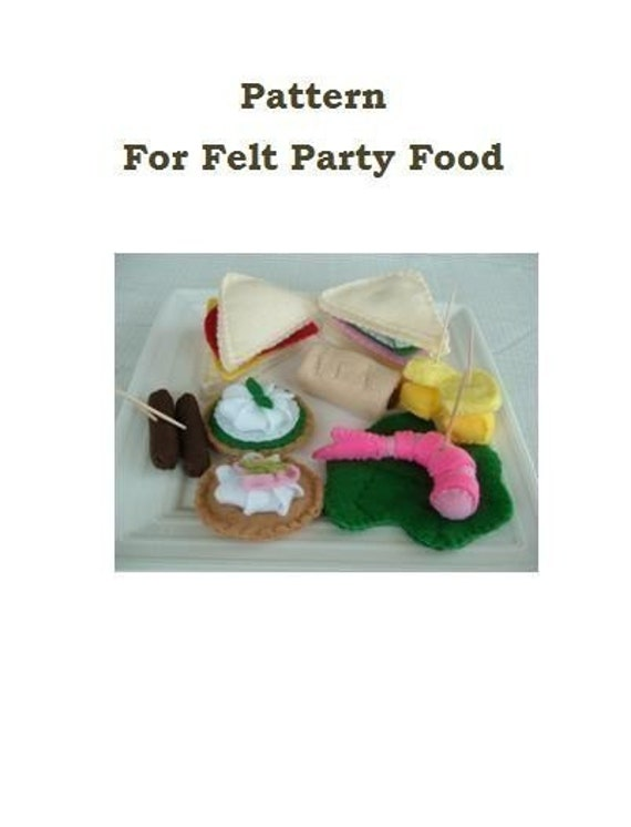 Fun felt food pattern party time pdf format forumfinder Images