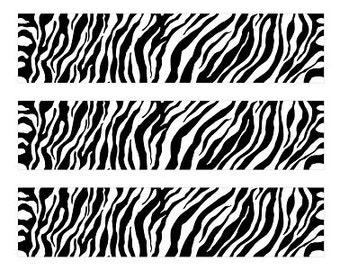 Zebra Print Edible Image Strips