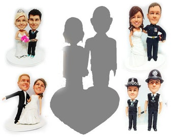 Bespoke Personalised wedding cake topper& 3D doll  (Free shipping)
