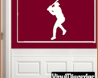 Baseball Vinyl Wall Decal or Car Sticker - baseballst001ET
