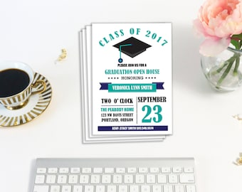 Printable Graduation Invitation, Graduation Party, Grad Party, Printable Invitation, High School Grad, College Graduation, Instant Download