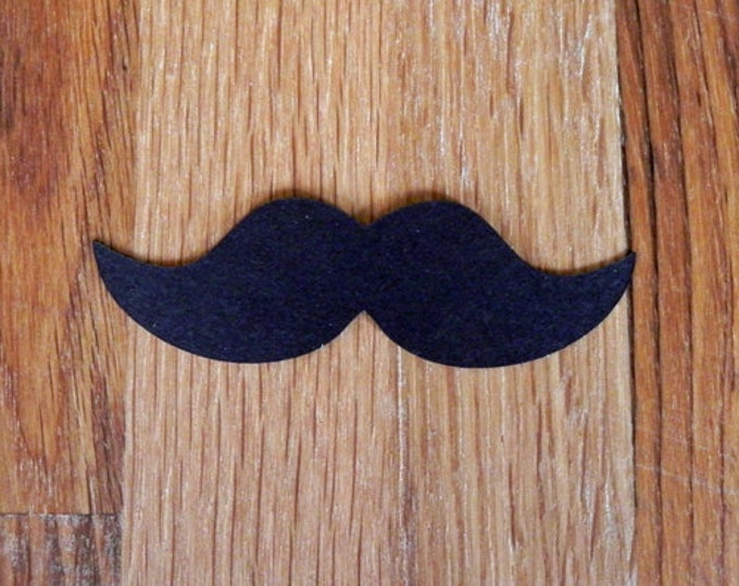 Die Cut Mustaches (25+) - photo prop party decoration punch cutout card stock