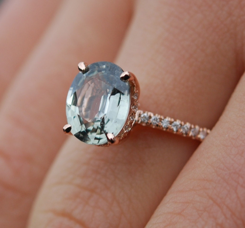 Jasmine Sapphire Engagement Ring