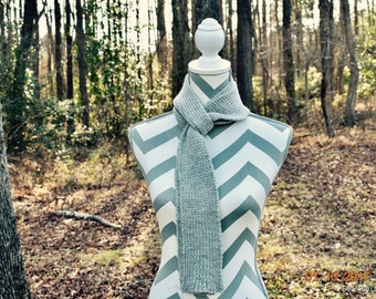 Skinny Grey Scarf, Long Scarf, Wool