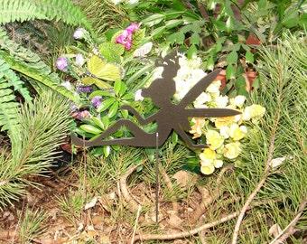 FAIRY SHADOW Garden Stake Yard Decor Lawn Ornament Metal Art Magical Mystical 2