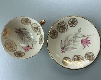 Mid Century Winterling Gilt Porcelain Cup & Saucer