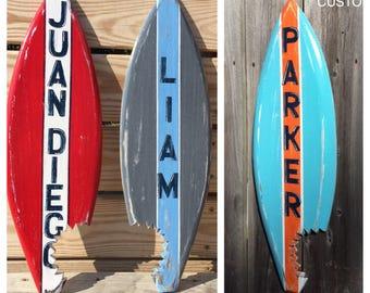 Surfboard Custom Shark Bite Nursery Decor Beach Coastal Home