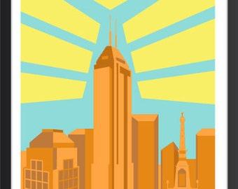 Indianapolis Art Deco Skyline