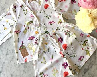 Ready to Ship SMALL White Bridesmaid Pajamas. Bridesmaids Pajama set. Bridesmaids Pajamas. Pajama Set. Pajamas. Enchanted Collection.