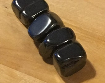 Magnetic Hematite Fidget // Set of 4 // Worry Stones // Magnetic // fidgets // Gemstones // Tumbled Gemstones // Polished Gemstones