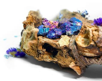 Chalcopyrite Beautiful Crystal Purple Blue Pink Iridescent Shiny Gemstone Crystal Healing