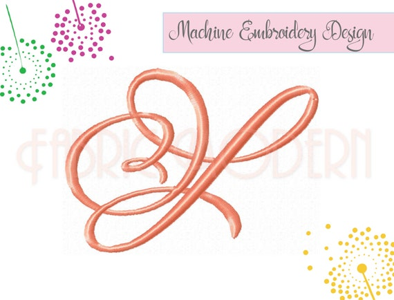2.5 inch Adorn MONOGRAM Font Embroidery design embroidery fonts bx ...