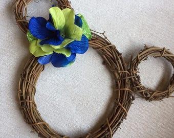 Action green & Blue Mini  wreath