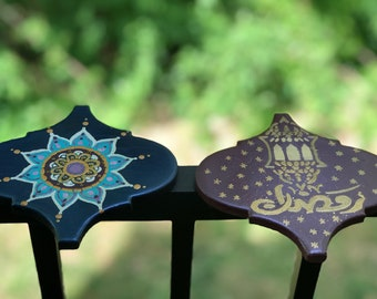 Ramadan set of 2 ceramic coasters
