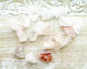 Fire Quartz Raw Stones - Rough Quartz - Healing Crystals and Stones - Natural Quartz - Rough Raw Stones - Reiki Healing Stones - Minerals
