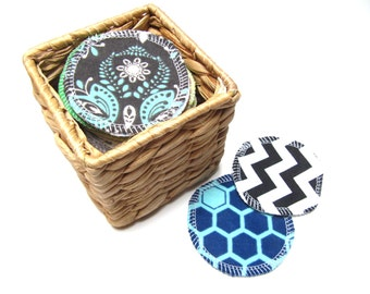 LARGE Reusable Facial Rounds, 30 or 40 ADULT Print Rounds, Makeup Remover Pads, Eco-Friendly Face Scrubbies 3 Inch Size