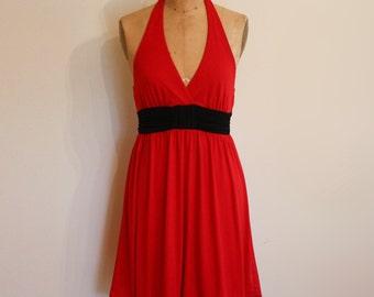 Poly Knit Halter Dress