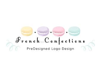 French Confections  - PreDesigned Logo Design -  Macaron