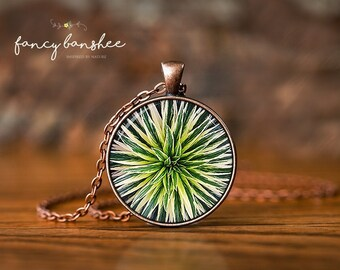Succulent Necklace - Plant Necklace - Photo Necklace - Christmas Gift For Her - Nature Necklace - Glass Pendant Necklace - Bridesmaids Gift