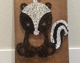 String Art Woodland Skunk