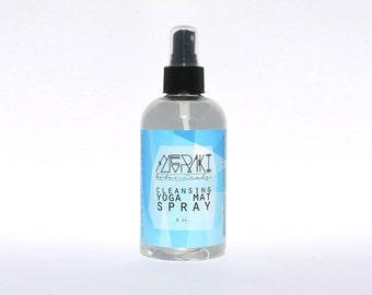 cleansing yoga mat spray ~ 8 oz \ yoga mat spray \ yoga mat cleaner \ mat spray \ antibacterial spray \ mat cleaner \ yoga spray
