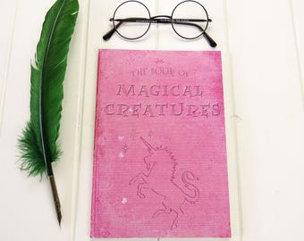 Magical Creatures A5 Notebook - Unicorn Notebook - Witches & Wizards - Back to School - Geek Gift - Notepad Jotter - Magic - Stationery
