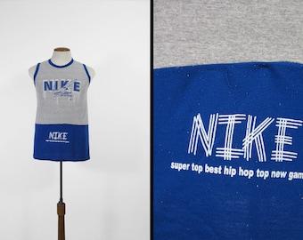 Vintage Nike Bootleg Tank Top Heather Grey Sleeveless T-shirt - Small