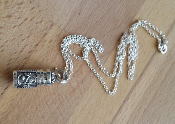 Wish Box Necklace Silver Wish Box Necklace Small Trinket Stash