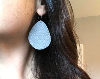Leather diffuser earrings