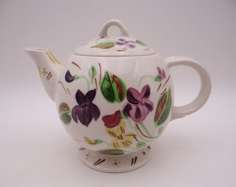 Vintage Blue Ridge China Southern Potteries Hand Painted Dogtooth Violet Teapot Good Housekeeping - Anyone for Tea